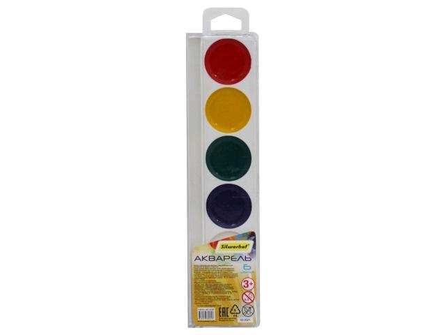 Краски  6 цветов акварель медовая Silwerhof 961135-06