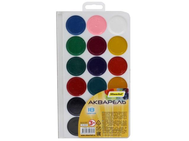 Краски 18 цветов акварель медовая Silwerhof 961131-18