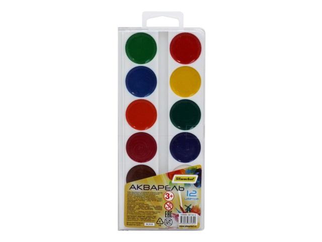 Краски 12 цветов акварель медовая Silwerhof 961135-12