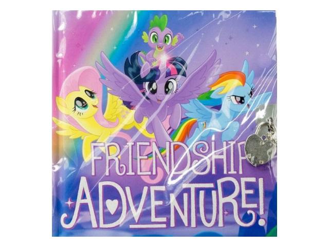 Записная книжка 13*13см Академия Холдинг на замке тв/переплёт 80л My Little Pony MPFS-UA1-A-4805