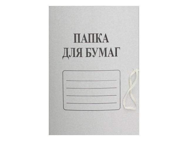 Папка на завязках картон А4 белая 380 г/м2 12048