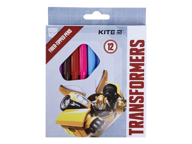 Фломастеры 12цв Kite Transformers TF21-047