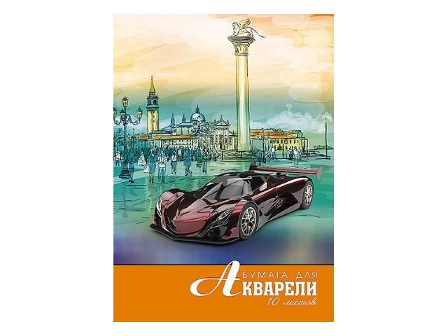 Папка для акварели А4 10л Апплика Городская зарисовка С0162-20