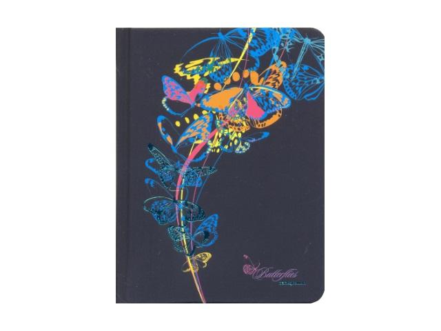 Записная книжка А6 Апплика тв/переплёт 96л Голубые бабочки С3359-01