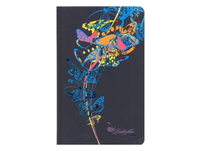 Записная книжка А5 Апплика тв/переплёт 96л Голубые бабочки С3361-01