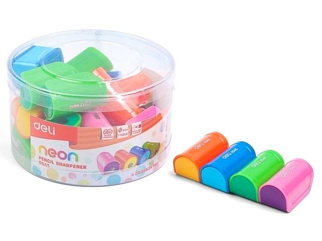 Точилка пластик Deli Neon E0545