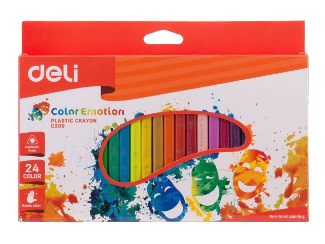 Мелки восковые 24цв Deli Color Emotion трехгранные EC20020