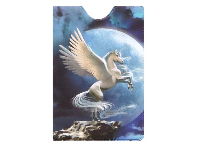 Обложка для проездного билета Miland Единорог на Луне ОП-4489