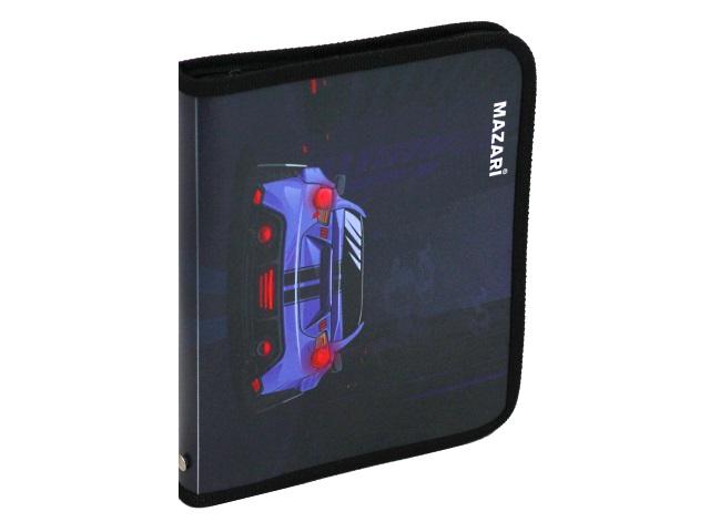 Папка для тетрадей А5 на молнии Mazari Sport Car M-16156