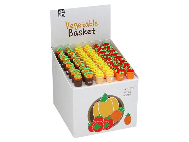 Ручка гелевая Mazari Vegetable Basket синяя 0.5мм M-5371-70