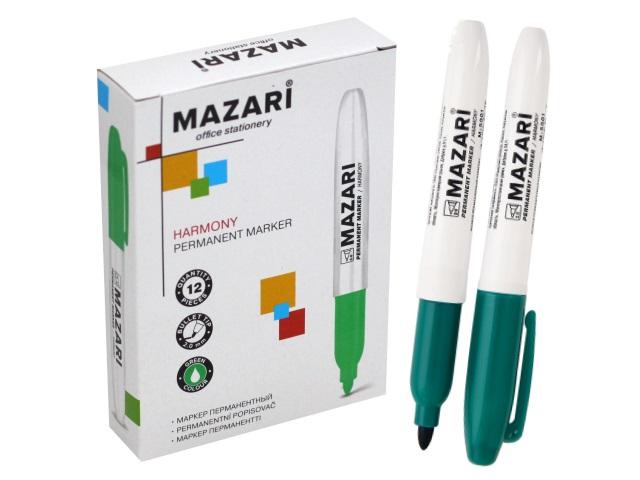Маркер перманентный Mazari Harmony зеленый круглый 2мм М-5001-73
