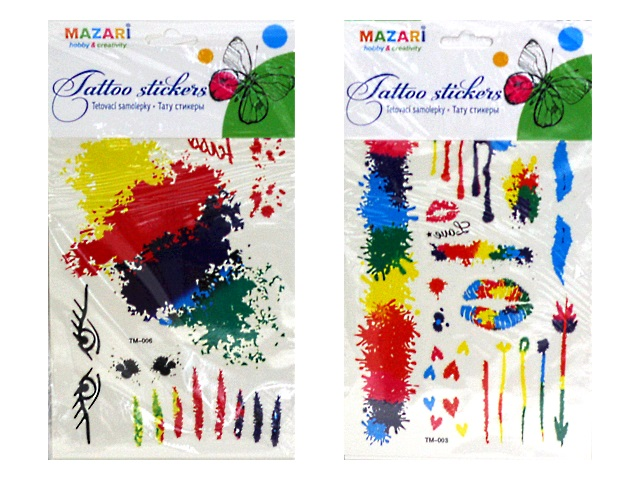 Наклейки тату Mazari цветные M-8743