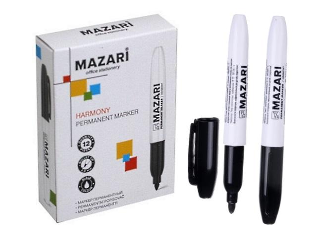 Маркер перманентный Mazari Harmony черный круглый 2мм М-5001-71