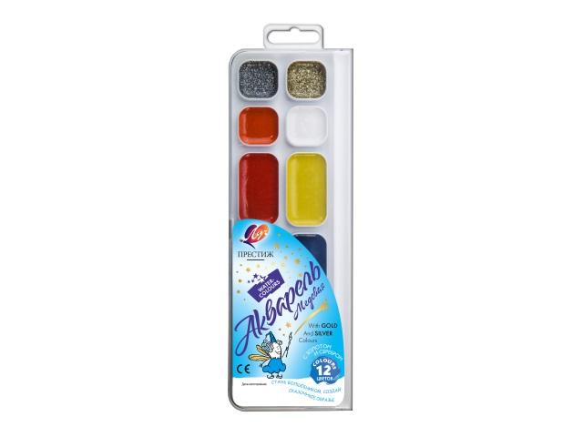 Краски 12 цветов акварель медовая Престиж Луч 18С 1231-08