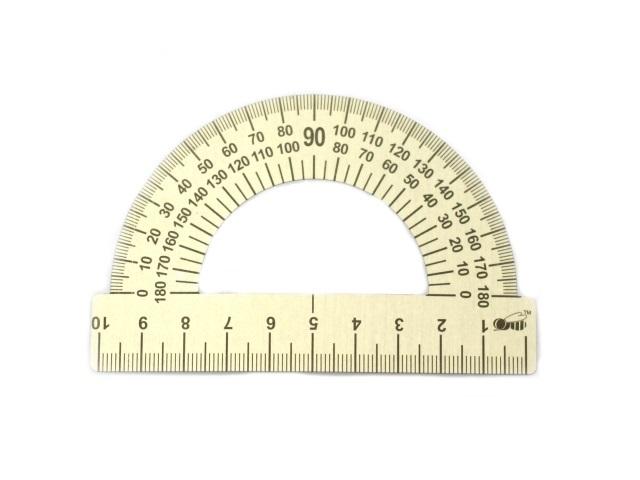 Транспортир 10 см металл 180* Пчелка ТС-10