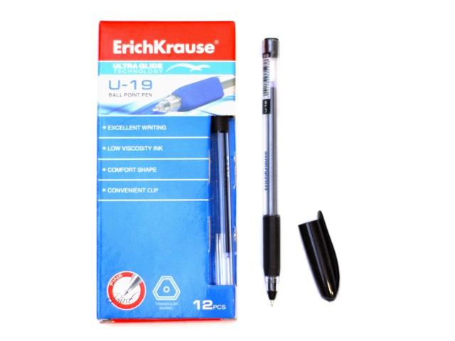 Ручка шариковая Erich Krause U-19 черная 0.6мм трехгранная ЕК-33523