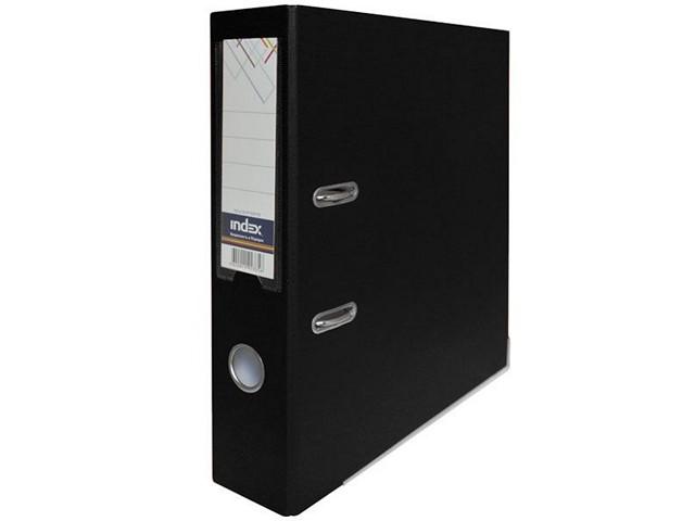Регистратор  А4/80 Index черный с металлической окантовкой 8/50 PP NEW BK