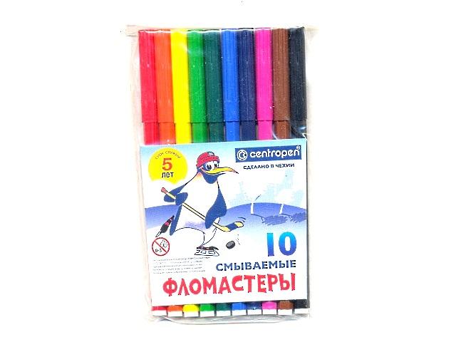 Фломастеры 10цв Centropen смываемые 7790/10 TP