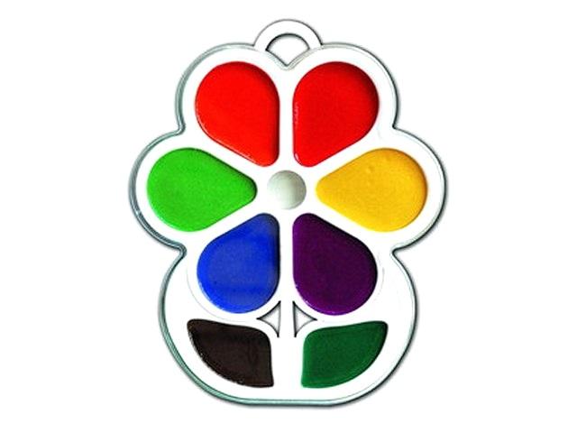 Краски  8 цветов акварель медовая Цветочек Луч 18С 1183-08