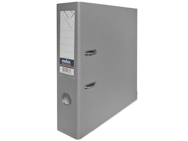 Регистратор  А4/80 Index серый с металлической окантовкой 8/50 PP NEW GY