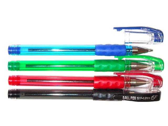 Ручка масляная Ball Point Pen, красная 1 мм, Tianjiao 501Р