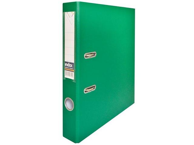 Регистратор  А4/50 Index зеленый с металлической окантовкой 5/50 PP NEW GN