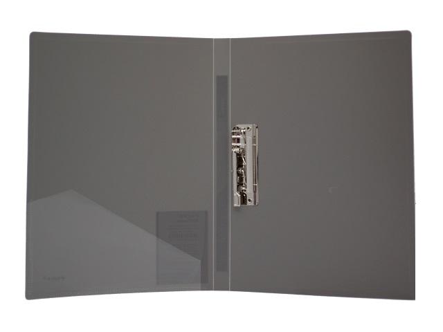 Папка с зажимом и карманом, А4, серая, 0.6 мм, Proff Next