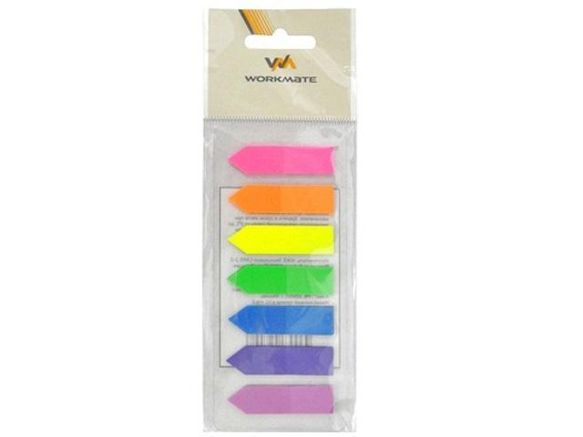 Стикер-закладка 44*12мм 7 цветов по 25л пластик Стрелки WM 003002700