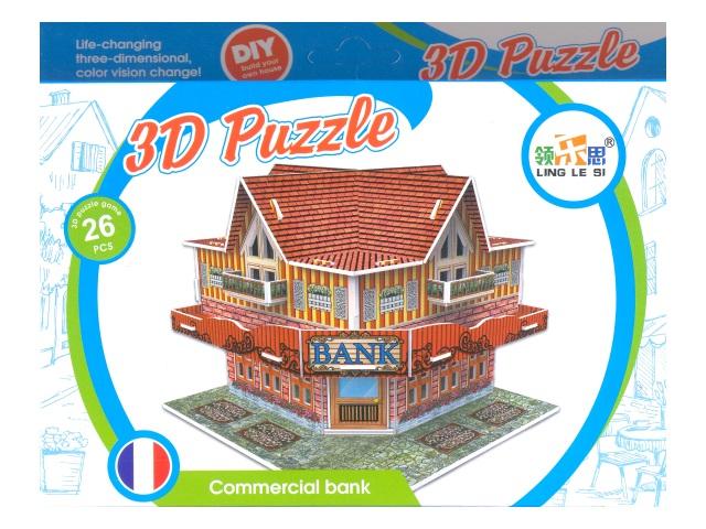 Пазлы 3D, магнитные, деревянные
