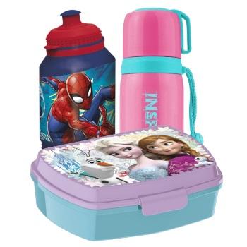 Ланчбоксы, бутылочки для воды, контейнеры, термосы
