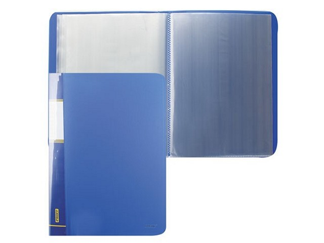 Папка с файлами 60ф., А4, синяя, Proff Next