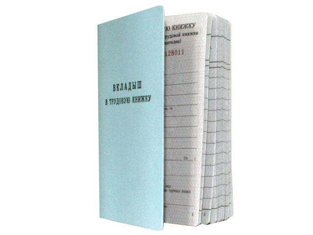 Вкладыш в трудовую книжку А6, 18 листов, Гознак
