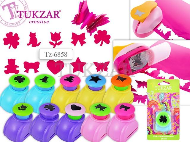 Дырокол фигурный, детский, пластиковый, D=20мм., 12фигурок, цветной, Tukzar