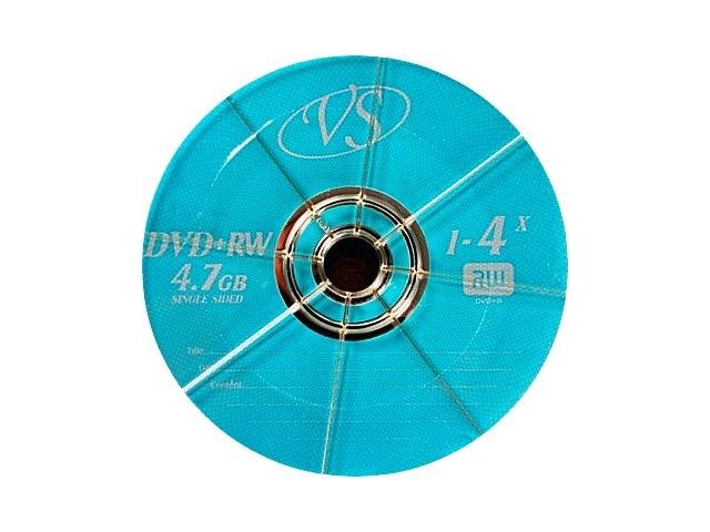 Диск, DVD+RW, 4.7Gb, 4х, Bulk, VS
