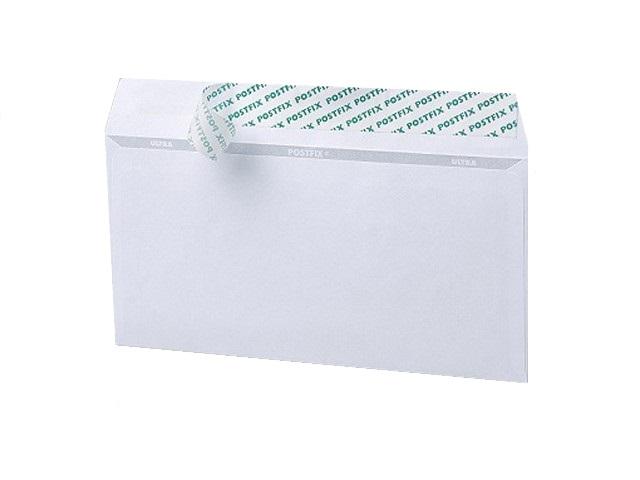 Конверт DL СК (стрип), 80 г/м2 11*22 см белый с отрывной лентой, Эмика 2000