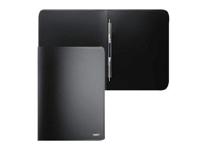 Папка-усы с карманом А4, черная, 0.6мм., Proff Next