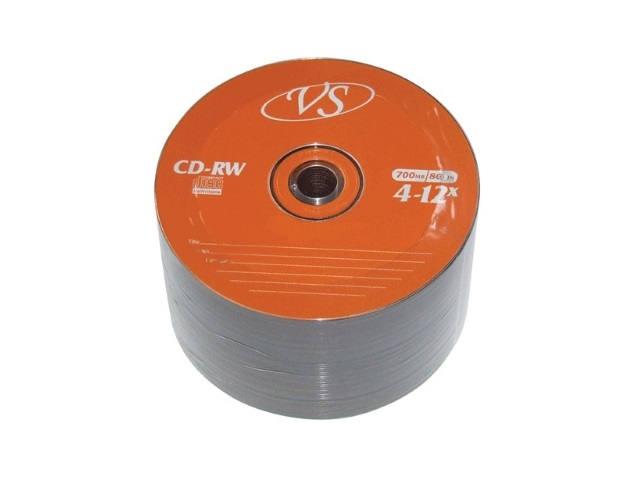Диск, CD-RW, 700Mb, 4-12х, Bulk, VS