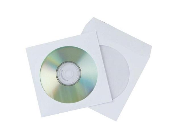 Конверт для дисков, бумажный, белый, Эмика 2000