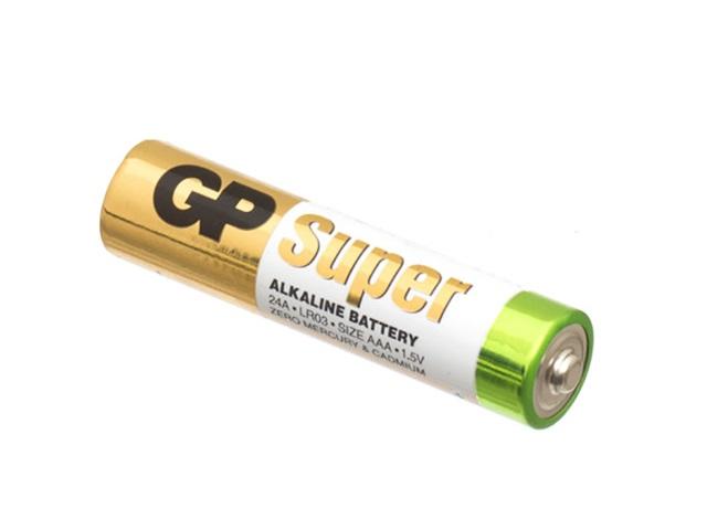 Батарейка LR03 1.5V щелочная Super, GP