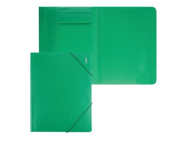 Папка на резинке, А4, зеленая, Proff Next
