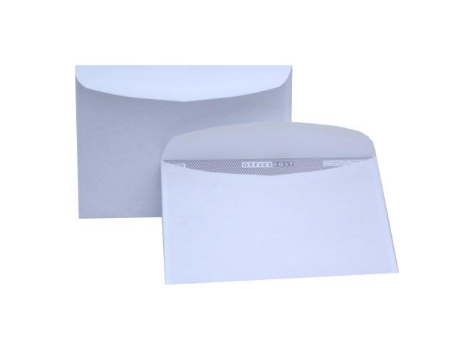 Конверт С5, с клеевой полосой, белый, Эмика 2000