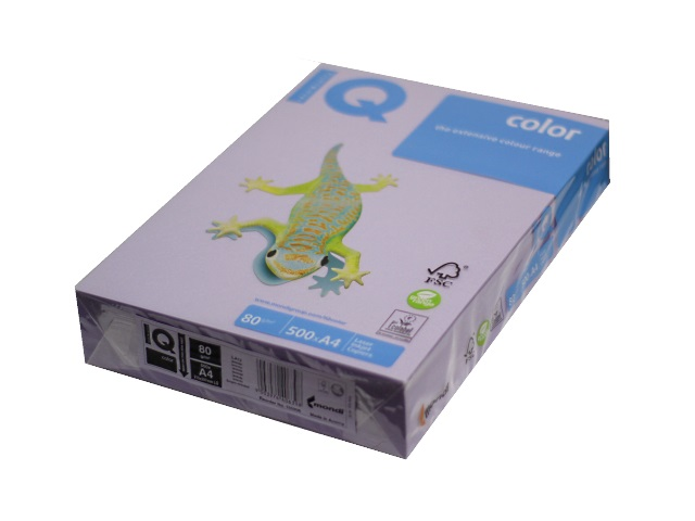 Бумага А4 80 г/м2 500 листов бледно-лиловая, IQ LA12