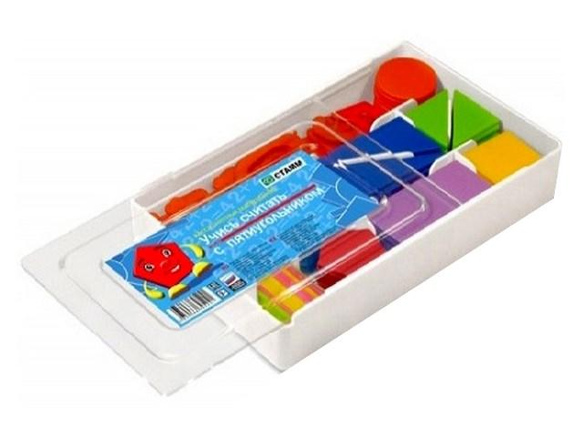 Счетные материалы, Учись считать с пятиугольником, в пластиковой коробке, Стамм