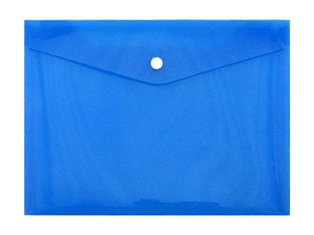Папка конверт на кнопке, А4, синяя, Proff Standard