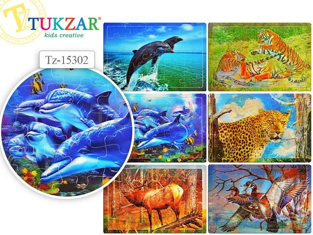 Пазл деревянный, Природа, цветной, 29*21см., Tukzar