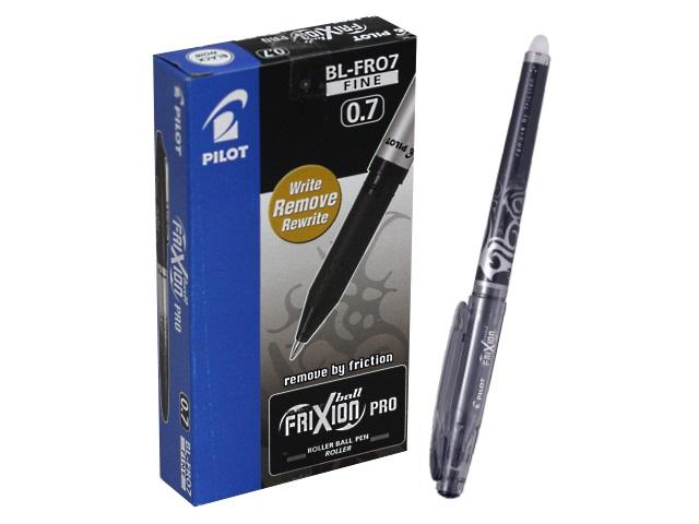Ручка пиши-стирай, гелевая, черная, 0.7мм., PILOT