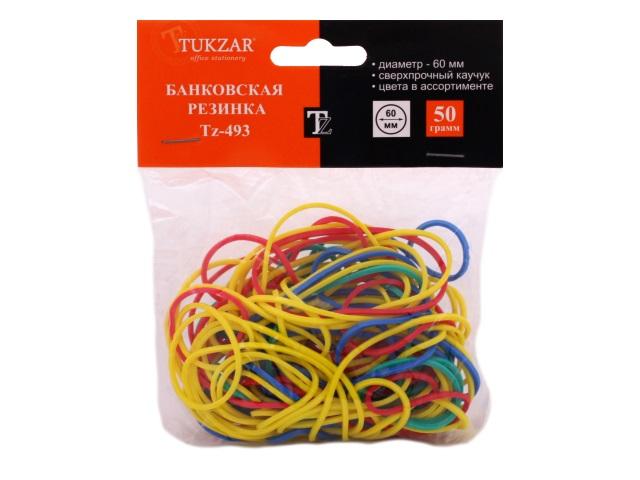 Резинки для денег 50 г, цветные в пакете, Tukzar TZ 493