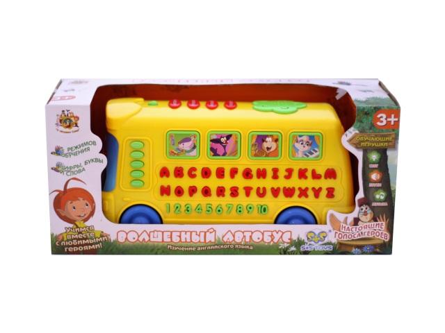 Развивающая игрушка, Автобус волшебный, на батарейках, У тетушки Совы, изучаем английский язык, 5 режимов, в коробке, S+S Toys