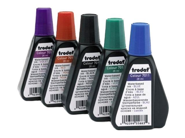 Краска штемпельная 28 мл фиолетовая на водной основе, Trodat Tr 7011-ф
