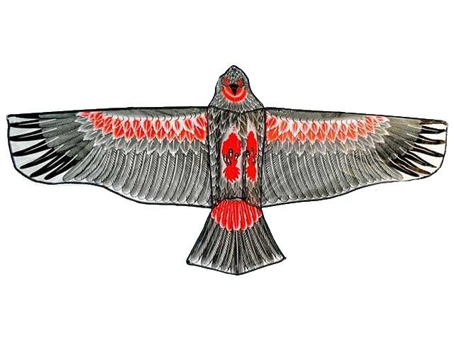 Воздушный змей, Орел, зеленый, длина нити 30м., в пакете